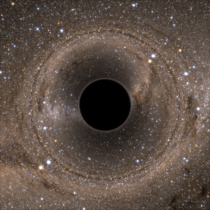 black hole affects light from stars